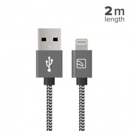 Tucano - Cabo lightning-USB Cotone (space grey