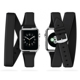 Griffin - Uptown Leather Band Apple Watch (38mm-black)