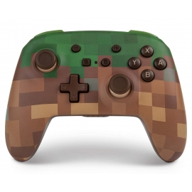 Comando PowerA Nintendo Switch Enhanced Wireless - Minecraft Grass