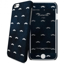 i-Paint - Hard Case+Skin iPhone 6/6s (mustaches)