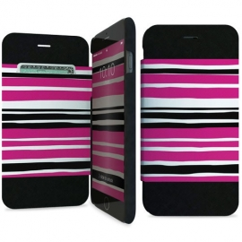 i-Paint - Folio Case iPhone 6/6s (pink stripes)