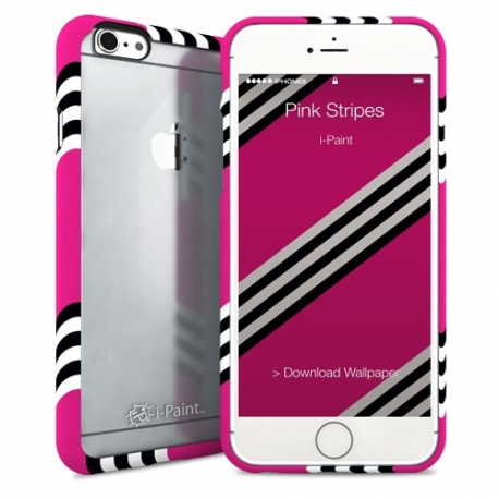 i-Paint - Ghost Case iPhone 6/6s (pink stripes)