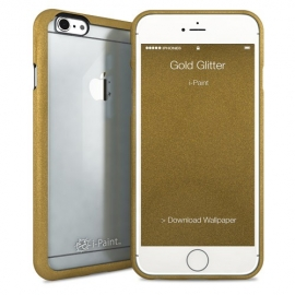 i-Paint - Ghost Case iPhone 6/6s (gold glitter)