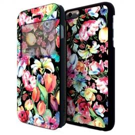 i-Paint - Double Case iPhone 6/6s Plus (black flower)