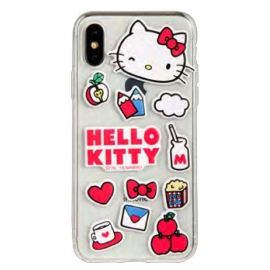 Hello Kitty - Puffy Patches iPhone XR (clear)
