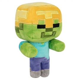 Peluche Minecraft: Happy Explorer Gold Helmet Zombie