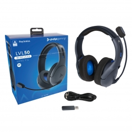 Headset PDP Gaming LVL50 Wireless- Grey