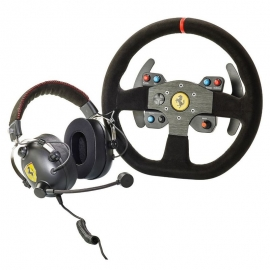 Thrustmaster Race Kit Ferrari 599XX EVO Edition Alcantara Volante + Headset PS4/XboxOne/PC