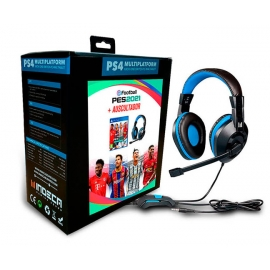 Pack E-Football PES 2021 PS4 + Headset Indeca Gaming