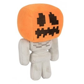 Peluche Minecraft: Pumpkin Head Skeleton