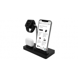 Macally - Stand 3in1 Apple Watch/iPhone/AirPods (black)