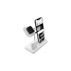 Macally - Stand 3in1 Apple Watch/iPhone/AirPods (white)