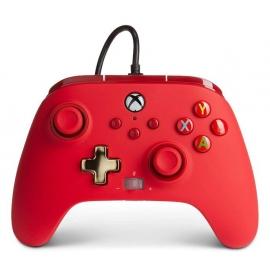 Comando PowerA Xbox Series X Enhanced Wired - Red
