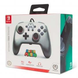 Comando PowerA Nintendo Switch Enhanced Wired - Silver Mario
