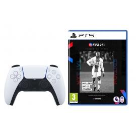 Pack Joga a 2 FIFA 21 PS5 + Comando sem fios DualSense Playstation 5