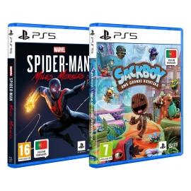 Pack Family Marvel's Spider-Man: Miles Morales + Sackboy: Uma Grande Aventura PS5