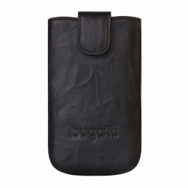 bugatti - SlimCase Leather Unique iPhone 5/5s/SE (carbon)