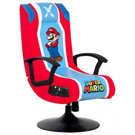 Cadeira X-Rocker: Super Mario 2.1 Audio Pedestal Chair - Red/Blue