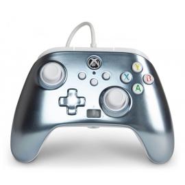 Comando PowerA Xbox Series X Enhanced Wired - Metallic Ice
