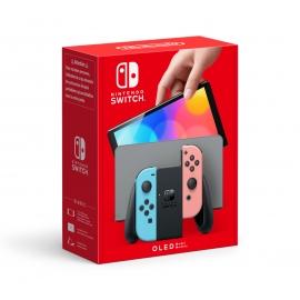 Consola Nintendo Switch Azul/Vermelha Néon (Modelo OLED)