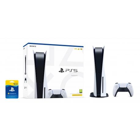 Pack Consola Playstation 5 + Subscrição PS+ 12 Meses (Ver Notas no descritivo do produto)