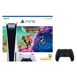 Pack Consola Playstation 5 + Ratchet & Clank + Comando Dualsense Midnight Black (Ver Notas no descritivo do produto)
