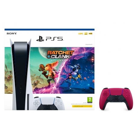 Pack Consola Playstation 5 + Ratchet & Clank + Comando Dualsense Cosmic Red (Ver Notas no descritivo do produto)