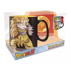Gift Set Dragon Ball Kamehameha - Caneca de Reação Térmica + Base para Copo