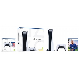 Pack PS5 FIFA - Consola Playstation 5 + FIFA 22 PS5 + Bundle Dualsense PS5 Jumpstart NBA 2K22 (Ver Notas)