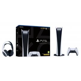 Pack PS5 Audio - Consola Playstation 5 - Edição Digital + Headset Pulse 3D (Ver Notas)