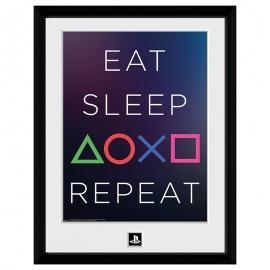 Poster Playstation - Eat Sleep Repeat