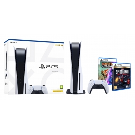 Pack PS5 Teen - Consola Playstation 5 + Ratchet & Clank PS5 + Marvel's Spider-Man: Miles Morales Ultimate PS5 (Ver Notas)