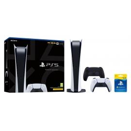 Pack PS5 Multiplayer - Consola Playstation 5 - Edição Digital + Dualsense Midnight Black + PS Plus 3 Meses (Ver Notas)