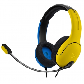 Headset PDP Gaming LVL40 Wired - Azul e Amarelo