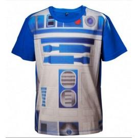 T-shirt Star Wars Kids R2D2 Tamanho 6 Anos