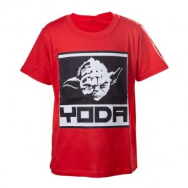 T-shirt Star Wars Kids Red Yoda Tamanho 8 Anos