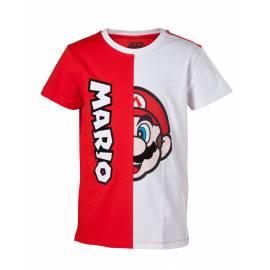 T-shirt Mario Cut & Sew Tamanho 6 Anos