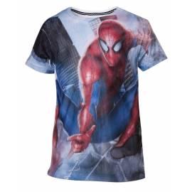 T-Shirt Mesh Spider-Man Tamanho 8 Anos