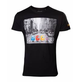 T-shirt Pac-man  Ghosts Crossing Roads Tamanho S