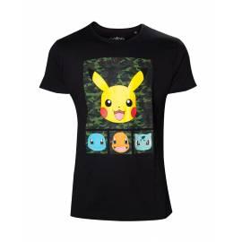T-shirt Pokémon Pikachu and Friends Camo - Tamanho L