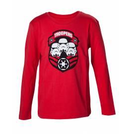 T-shirt de Manga Comprida Star Wars Stormtroopers Tamanho 8 Anos