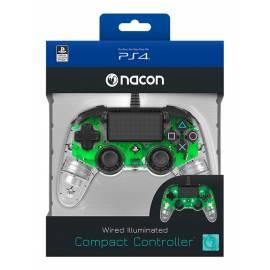 Comando Nacon Compact Iluminado Com Fio Transparent Green