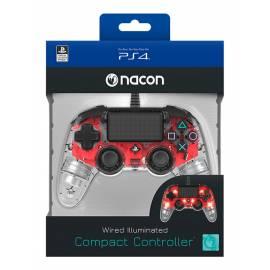 Comando Nacon Compact Iluminado Com Fio Transparent Red