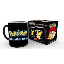 Caneca de Reação Térmica Pokemon Pikachu