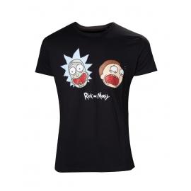 T-shirt Rick & Morty Crazy Faces  - Tamanho M