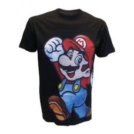 T-Shirt Super Mario Black Tamanho XS