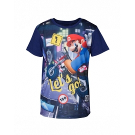 T-Shirt Menino Nintendo Super Mario Kart Tamanho 8 - 10 Anos