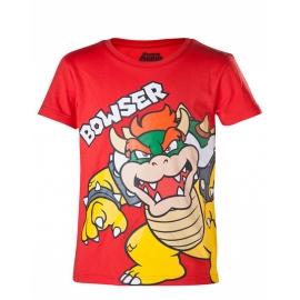 T-Shirt Menino Nintendo Super Mario Bowser Tamanho 6 - 8 Anos