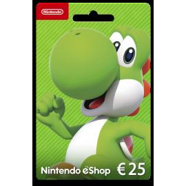 Cartão Nintendo eShop 25 Euros (Digital) - (Envio por Email)