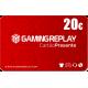 Cartão Presente GamingReplay 20€